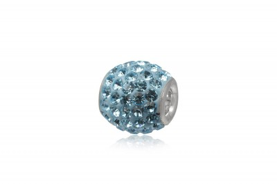 Pandantiv bratari cu cristale Blue Aqua
