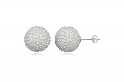 Cercei rotunzi cu perle naturale mici