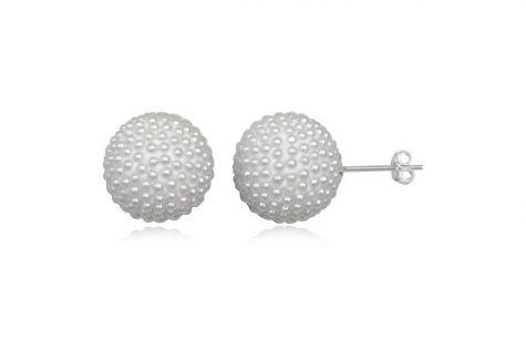 cercei rotunzi cu multe perle mici