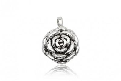 Medalion Trandafir cu multe petale din argint