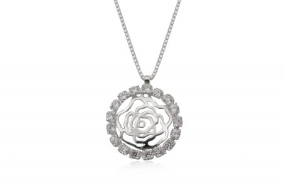 Colier romantic din argint si zirconii