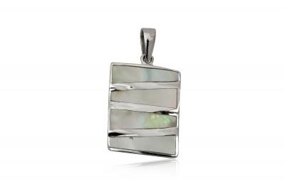 Pandantiv din sidef si argint 925 cu design modern
