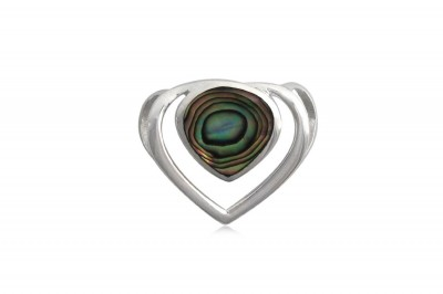 Pandantiv Inima din argint si abalon