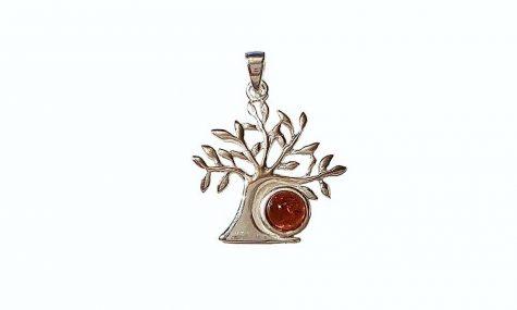 pandantiv copacul vietii cu ambra