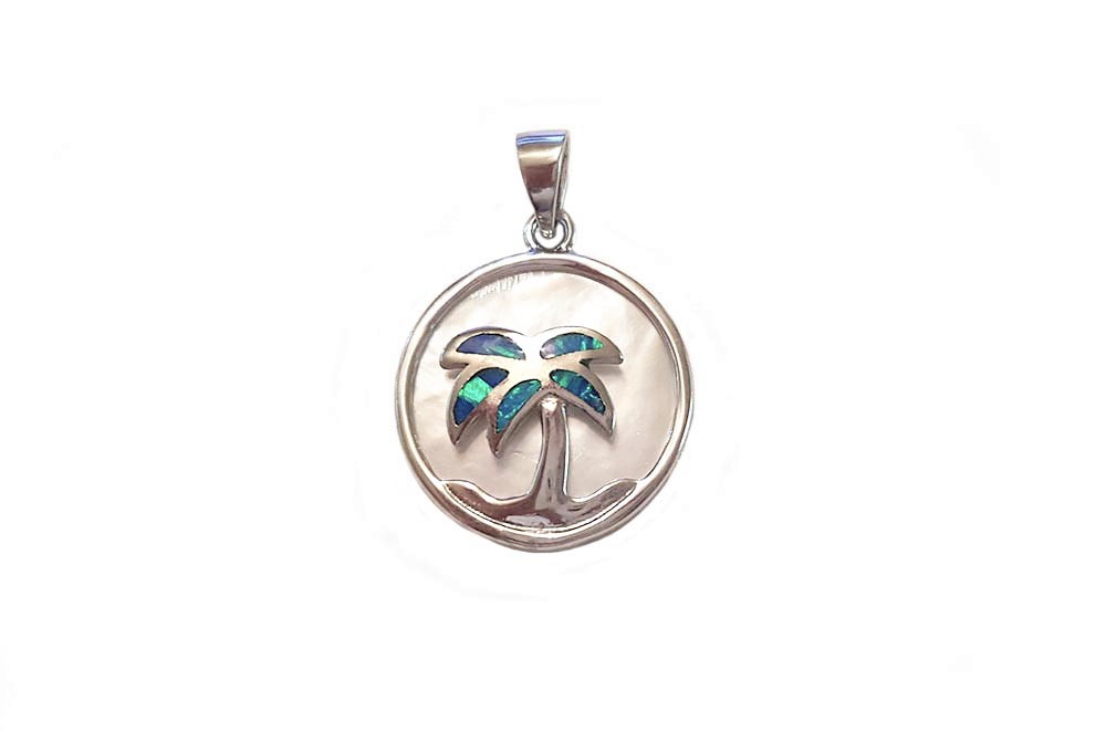 medalion cu palmier din argint