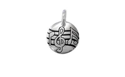 Medalion cu note muzicale din argint
