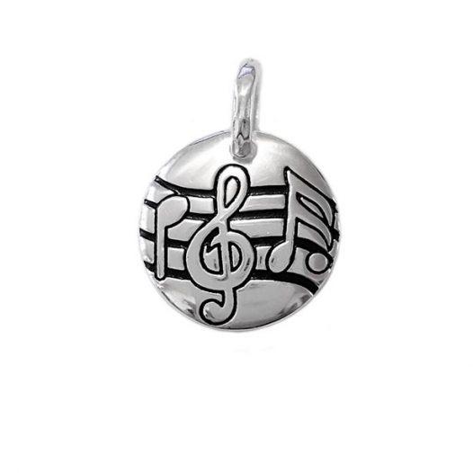 medalion argint cu note muzicale