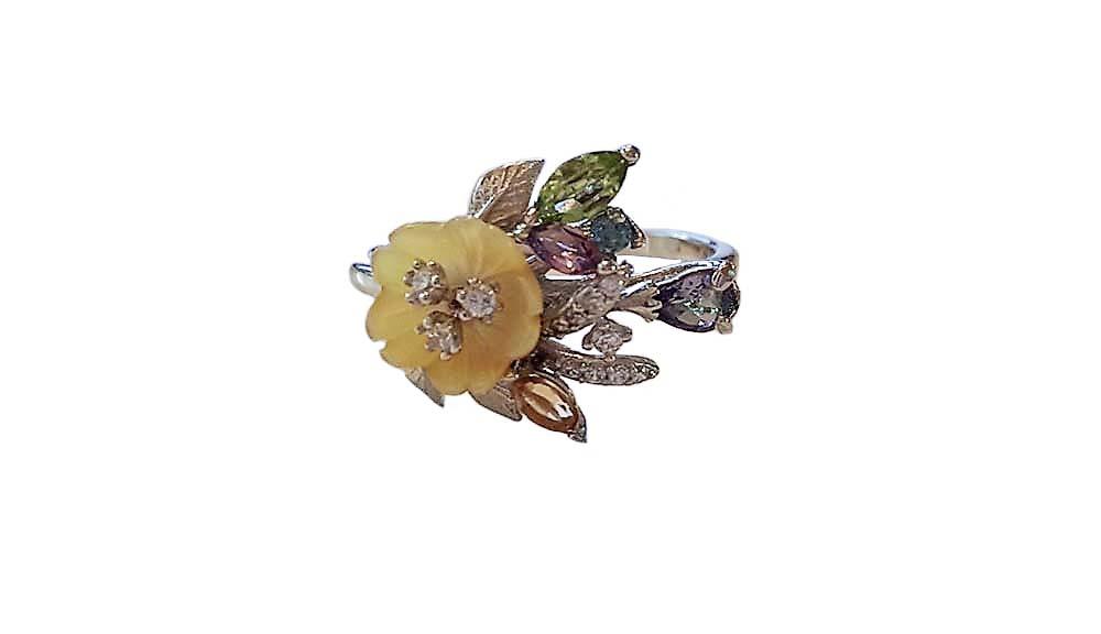 inel cu pietre smipretioase multicolore