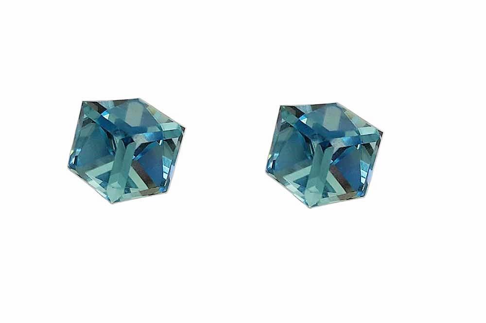cercei cu cristale Swarovski bleu
