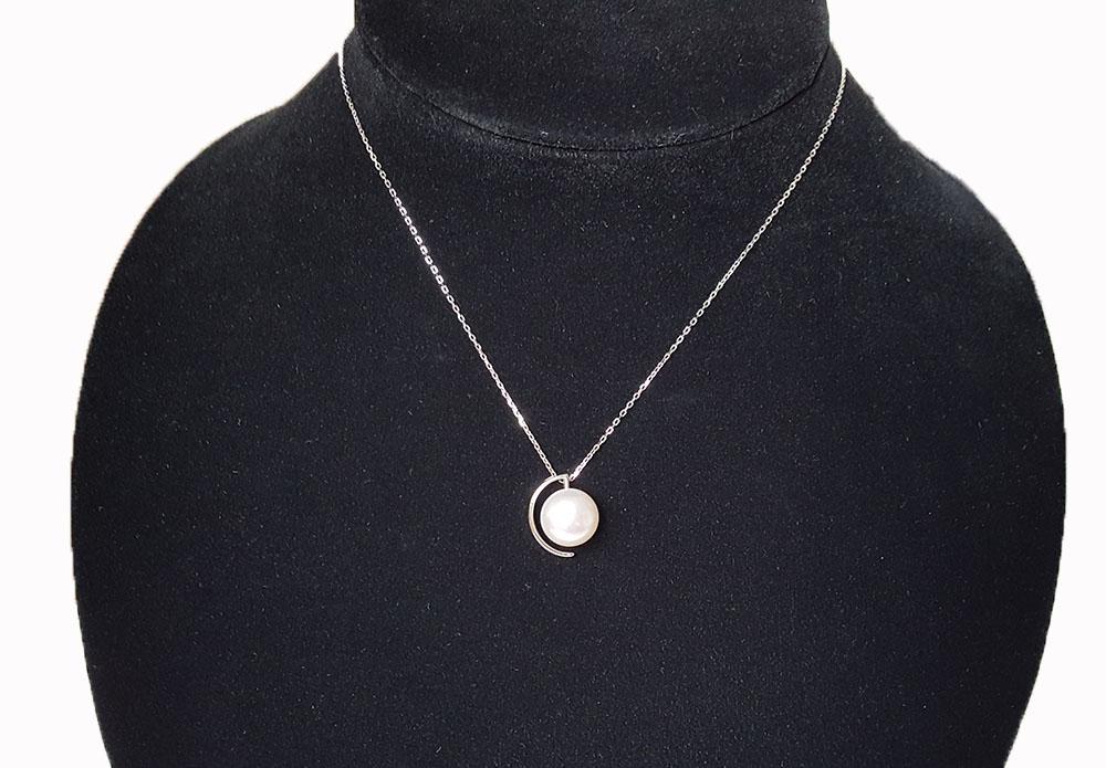 colier argint si perla naturala