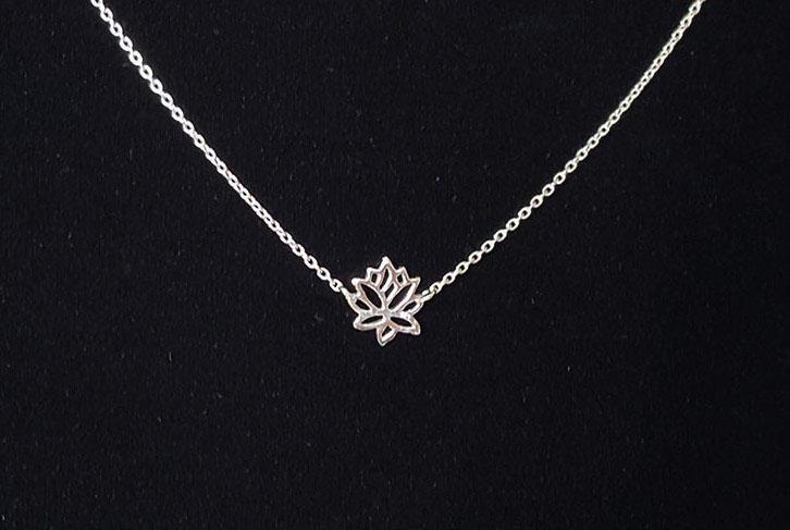 colier floare de lotus argint 925