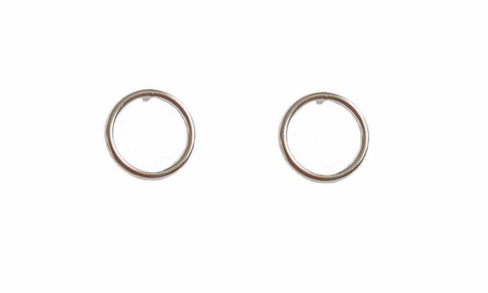 cercei cercuri simple argint