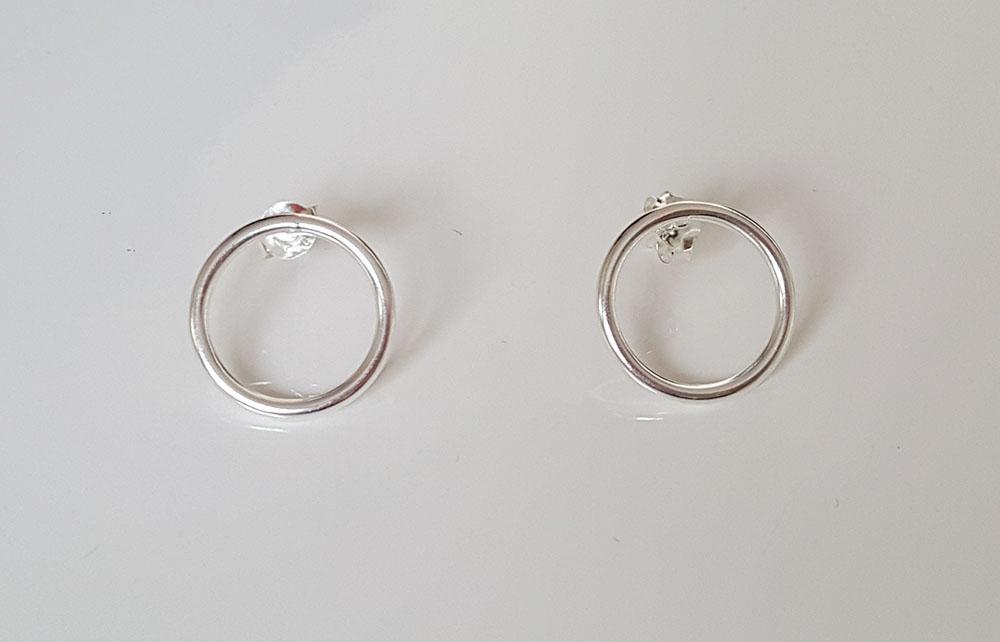 cercei cercuri din argint simplu