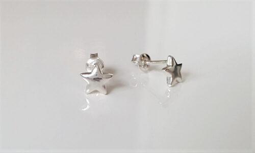 cercei din argint stele