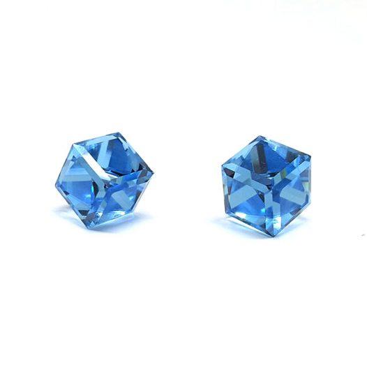 cercei bleu swarovski argint
