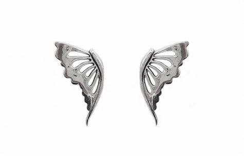 cercei fluturi mari din argint