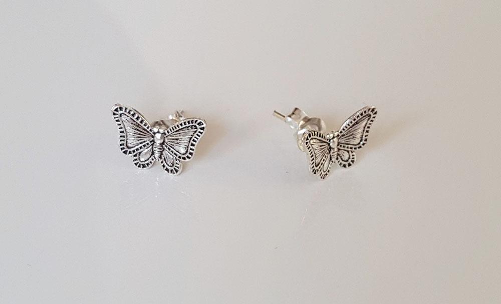 cercei fluturi superbi din argint