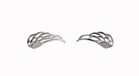 cercei aripi de inger cu zirconii