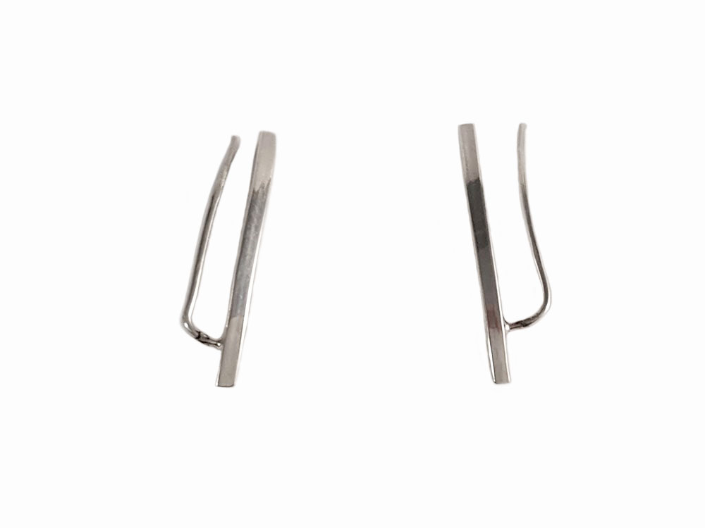 cercei argint model minimalist