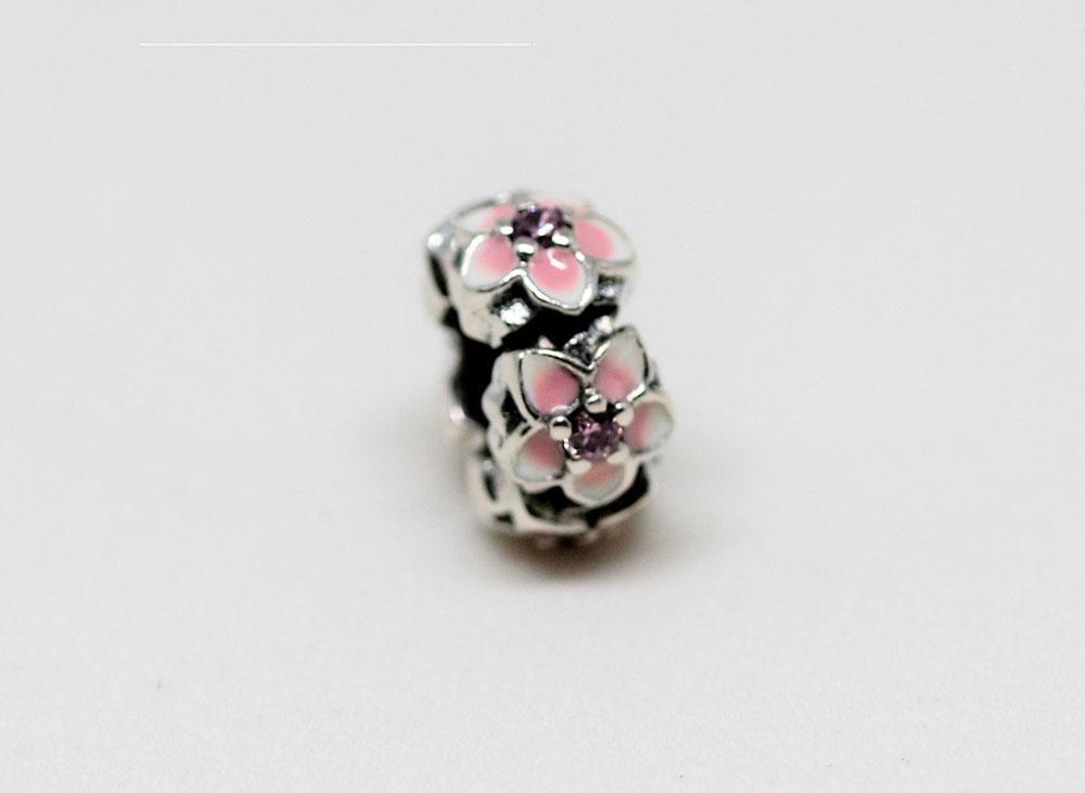 charm bratari cu flori roz
