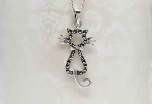 pandantiv pisica argint lafemmecoquette
