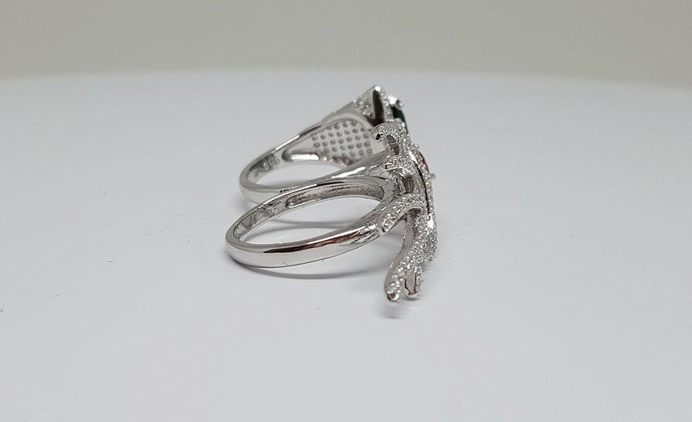 inel dublu argint 925