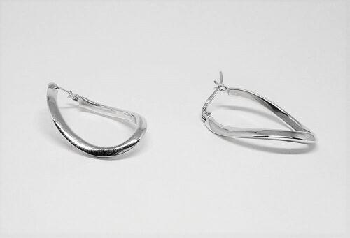 cercei creole ondulate argint