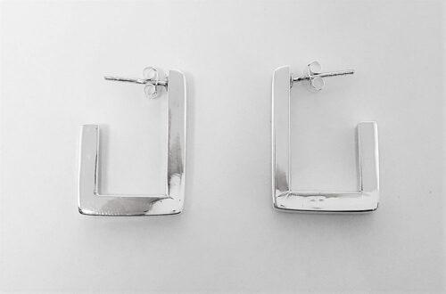 cercei argint cu motiv geometric