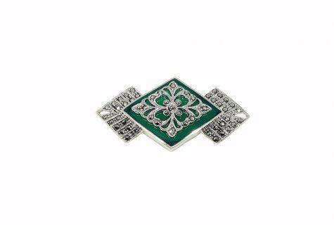 brosa agat verde si argint