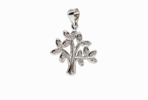 pandantiv copacul vietii argint si zirconii