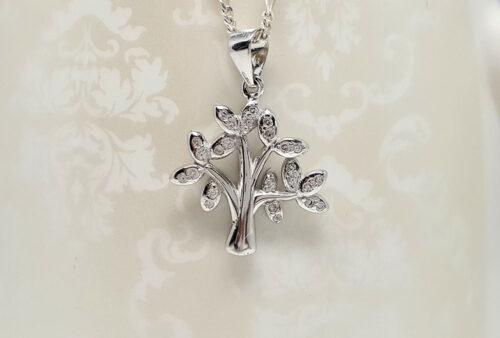 copacul vietii din argint si zircon