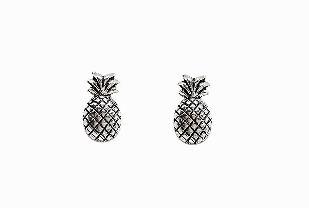 cercei ananasi din argint