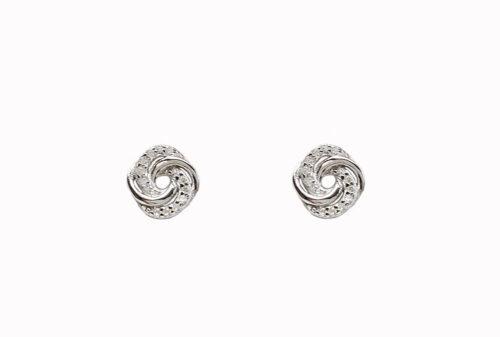 cercei cu flori din argint si zirconii