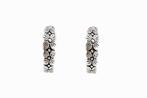 cercei din argint cu flori superbe