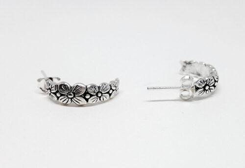 cercei argint cu flori