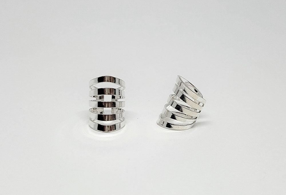 cercei ear cuff argint simplu