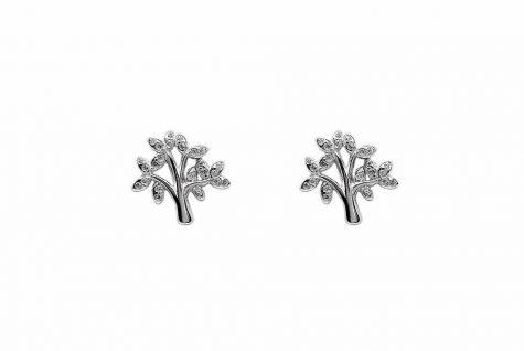cercei copacul vietii argint si zirconii