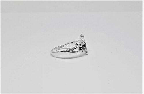 inel cu trifoi din argint 925