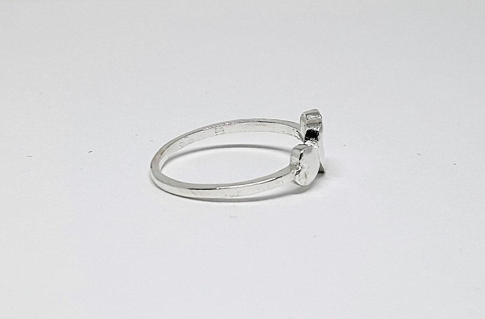 inel cu inimi din argint