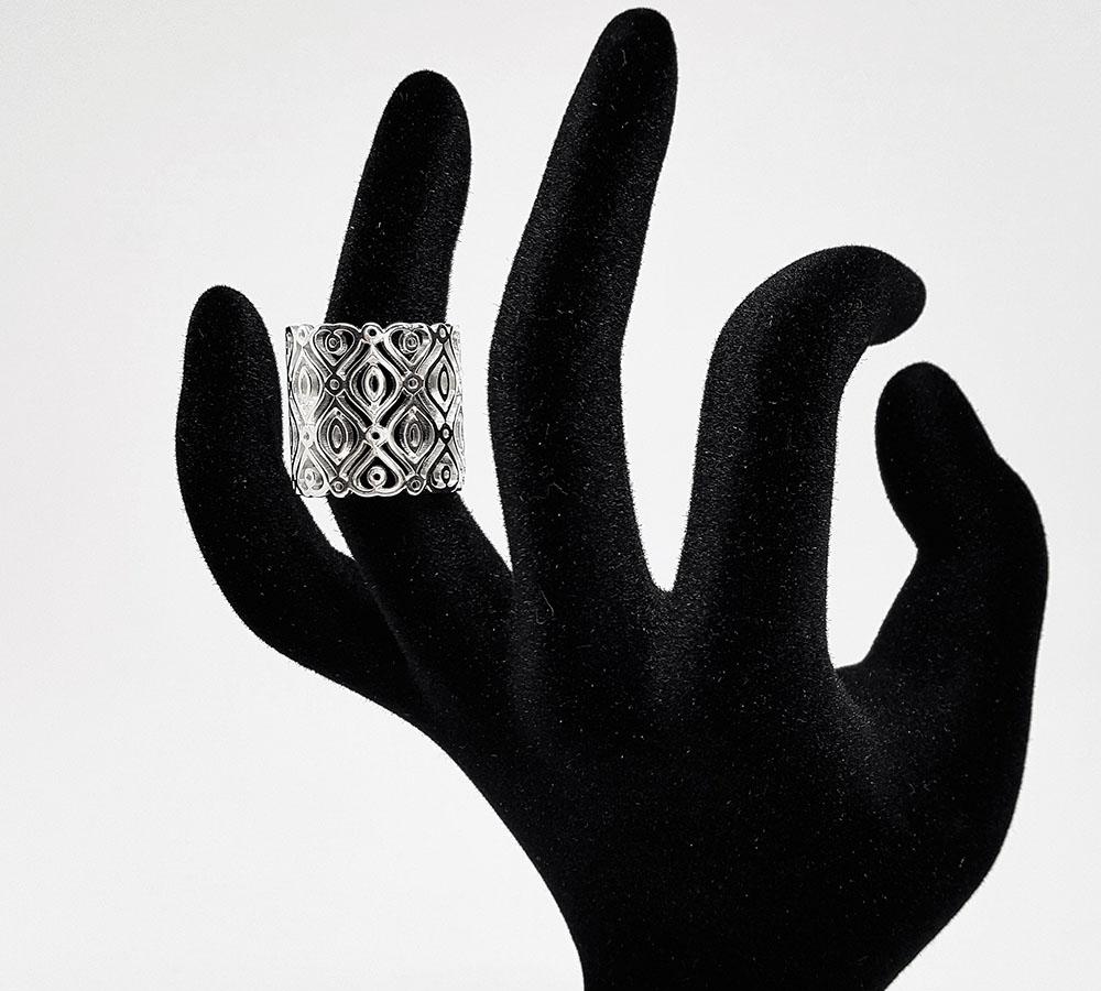 inel masiv argint stil oriental