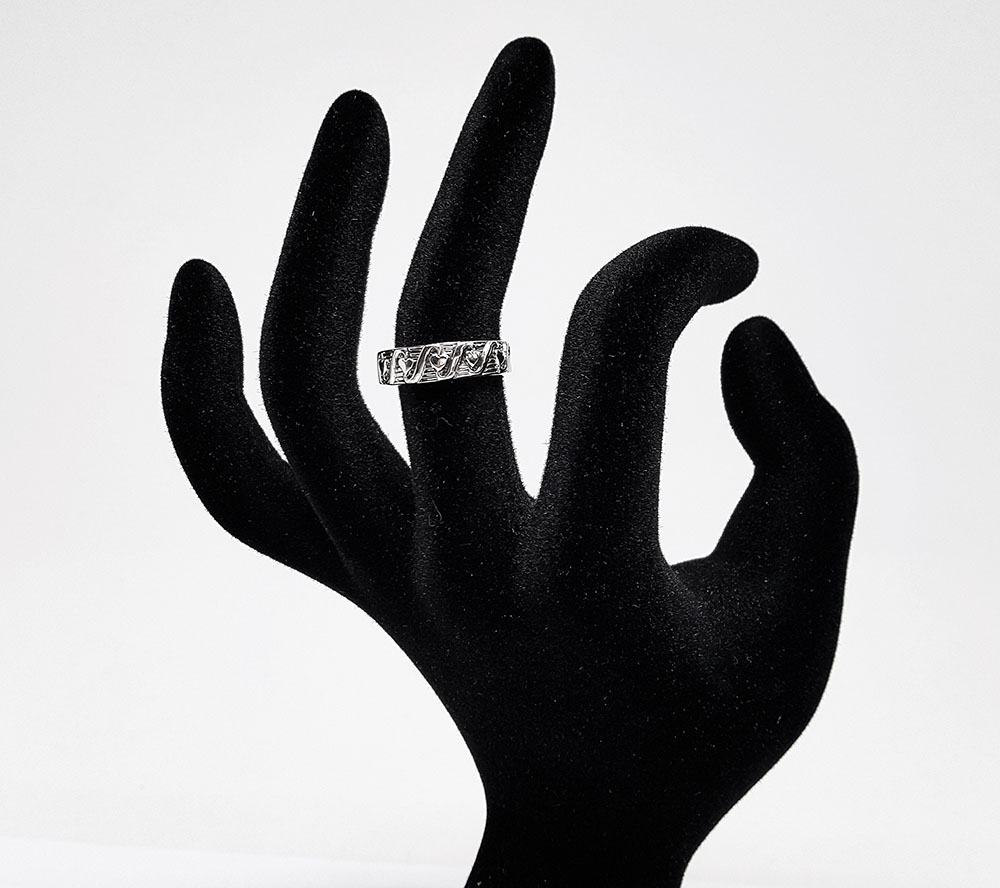 verigheta romantica din argint
