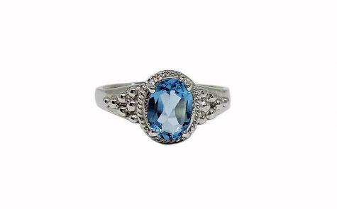 inel de logodna cu topaz bleu