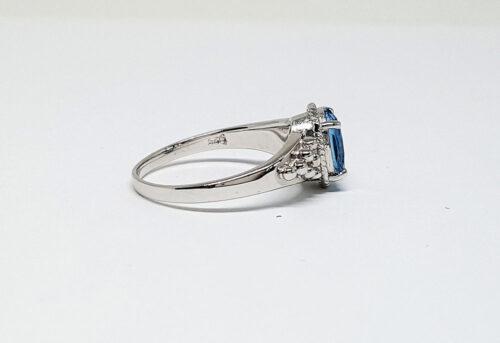 inel de logodna argint si topaz