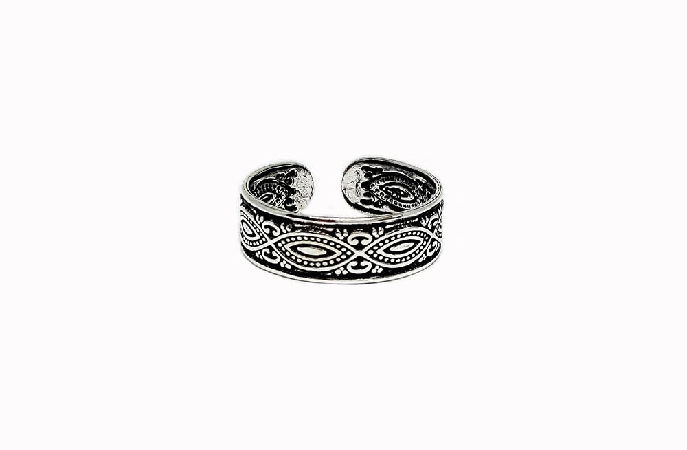 inel midi argint stil oriental