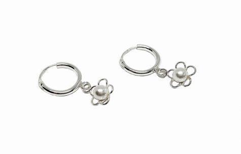 cercei copii argint cu perle