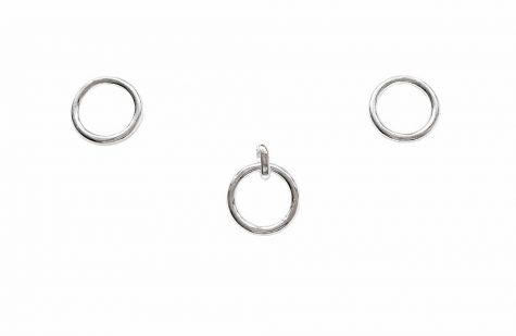 set cercuri simple din argint