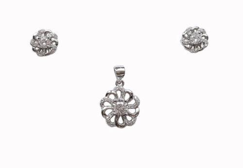 set floricele cochete argint
