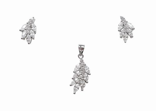 set frunzulite din argint