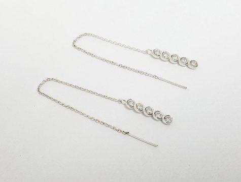 cercei lungi cu lantisor argint