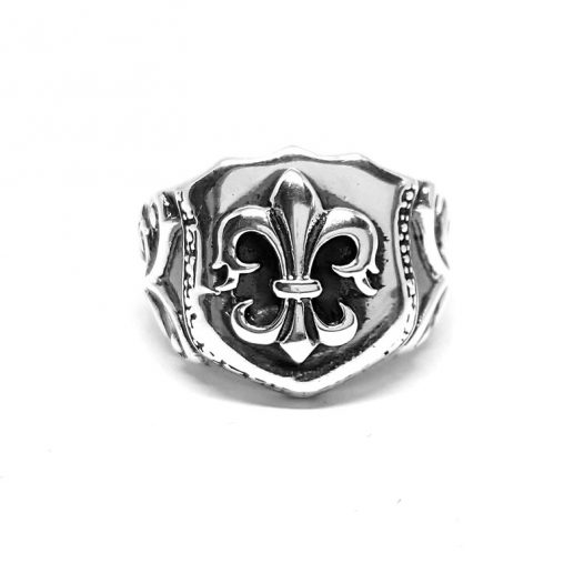 inel argint barbati model heraldic